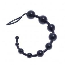 Oriental 10 Boğumlu 33 Cm Siyah Anal Zevk Topu