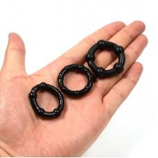 Stay Hard 3'lü Siyah Penis Halkası