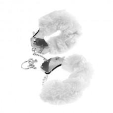 Beyaz Peluş Metal Kelepçe