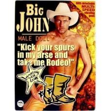 Big John Male Doll Titreşimli Penisli Şişme Erkek