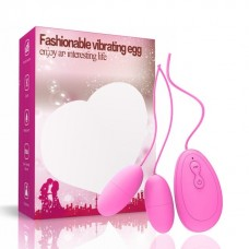Lolita Shop  Anal ve Vajinal Kullanılabilen Çiftli 20 Titreşim Fonksiyonlu Pembe Renkli Orgazm Zevk Topu