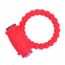Kırmızı Titreşimli Spiral Noktalı Penis Halkası