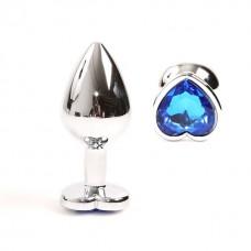 Gümüş Metal Mavi Taşlı 8,5 Cm Lüks Anal Plug Ve Tıkaç