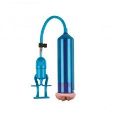 Pump Joy Vajina Ağızlı Mavi Penis Vakum Pompası
